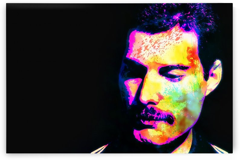 Freddie Mercury Abstract Portrait by Art By Dominic
