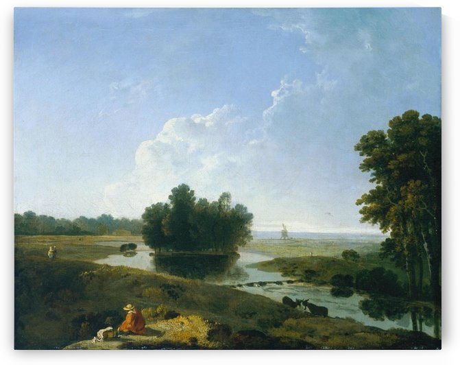 Girl by the river by Richard Wilson