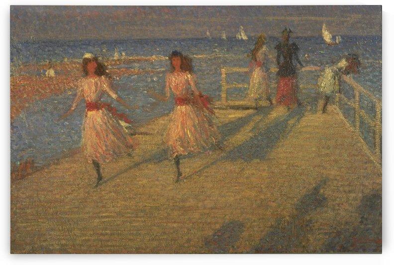 Girls Running by Richard Wilson