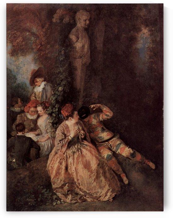 Der galante Harlekin by Antoine Watteau