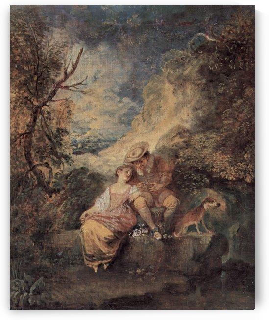 Der Jager des Nestes by Antoine Watteau