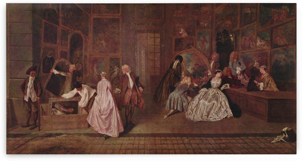 Gersaints Ladenschild by Antoine Watteau
