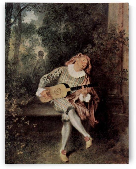 Mezzetin by Antoine Watteau