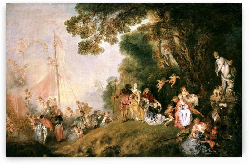 L'imbarco per Citera by Antoine Watteau