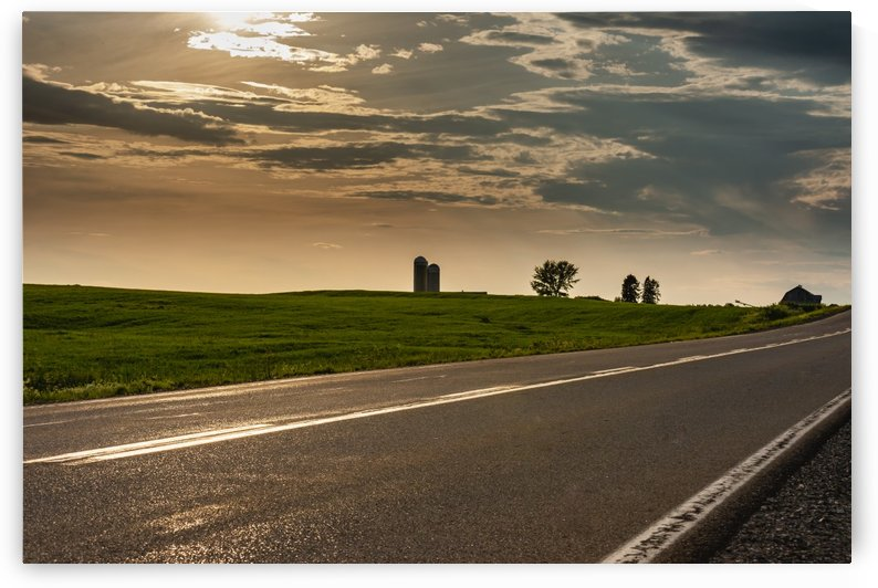 A twilight on the road by Adrien Cote photographe