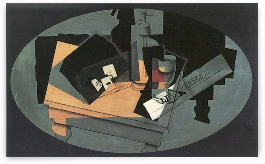 Playing cards and siphon by Juan Gris by Juan Gris