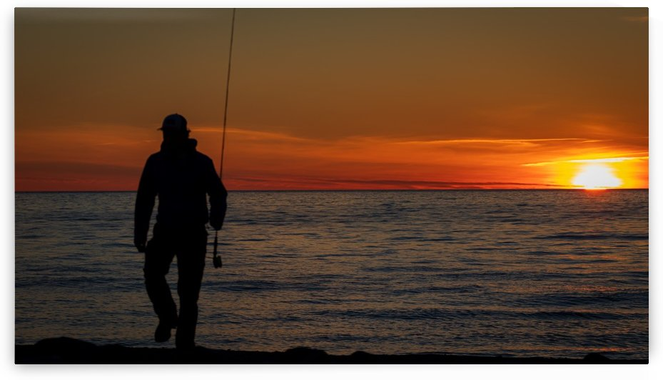 Sunset fishing by Jimmie Pedersen