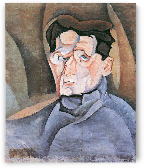 Portrait Maurice Raynal by Juan Gris by Juan Gris