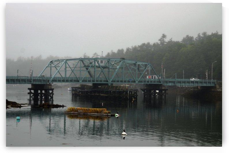 Foggy Morning - Southport Swing Bridge by FoxHollowArt