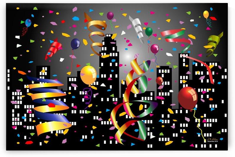 1-Nighttime Celebration in the Big City by Daniel M  DeAbreu