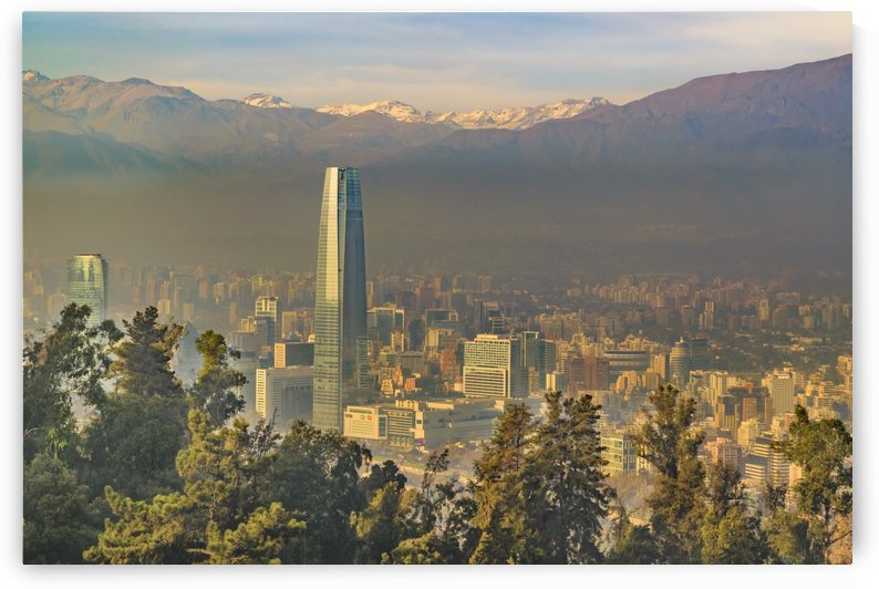 30334577 santiago de chile aerial view from san cristobal hill by Daniel Ferreia Leites Ciccarino