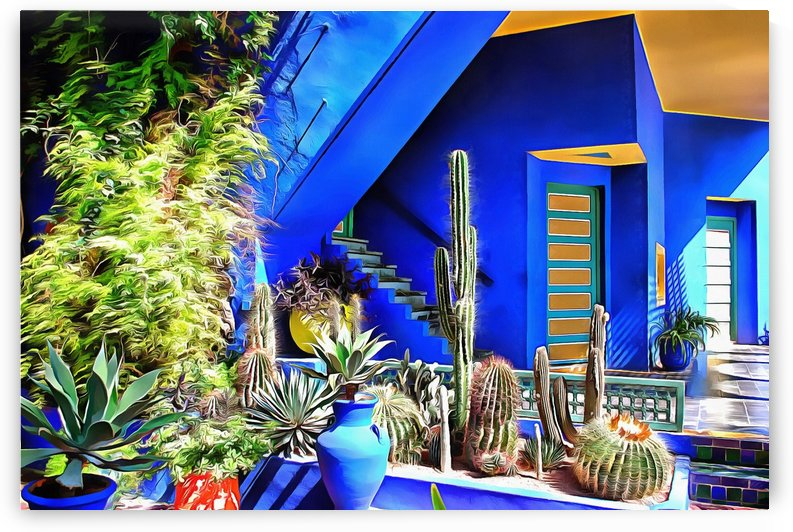 Cubist Villa Jardin Majorelle Marrakech by Dorothy Berry-Lound