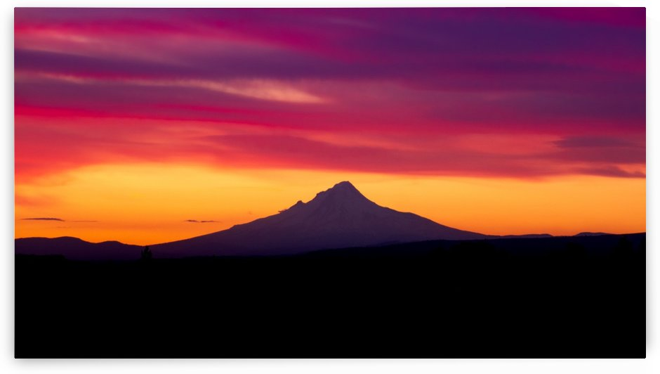 Mount Hood sunset by Jonathan K  Webb