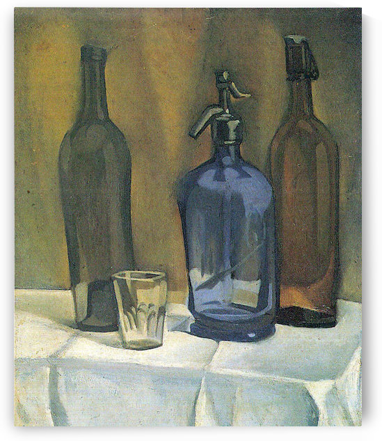 Siphon and bottles by Juan Gris by Juan Gris