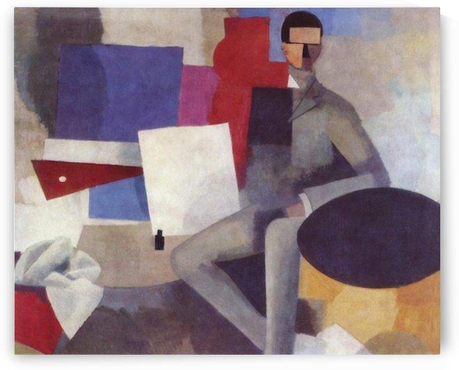 Sitting Man By La Fresnaye by La Fresnaye