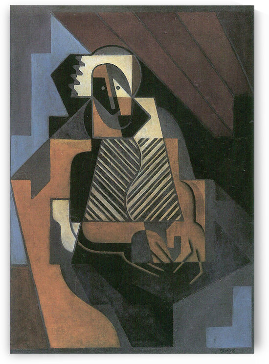 Sitting peasant woman by Juan Gris by Juan Gris