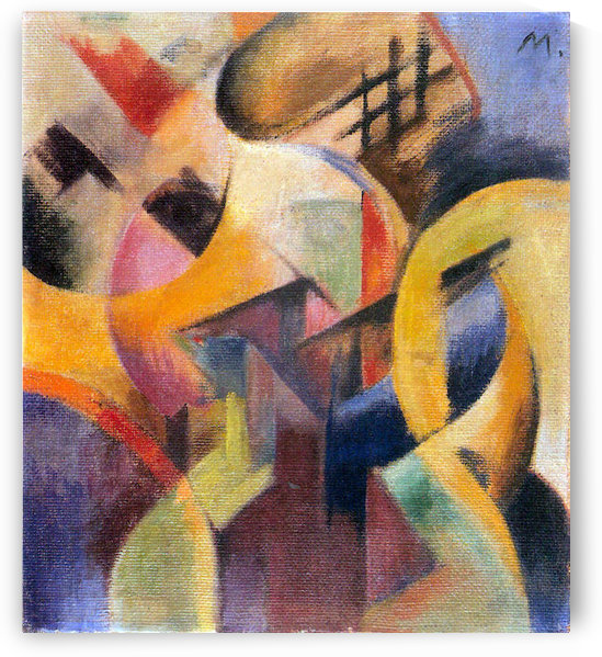 Small composition I by Franz Marc by Franz Marc