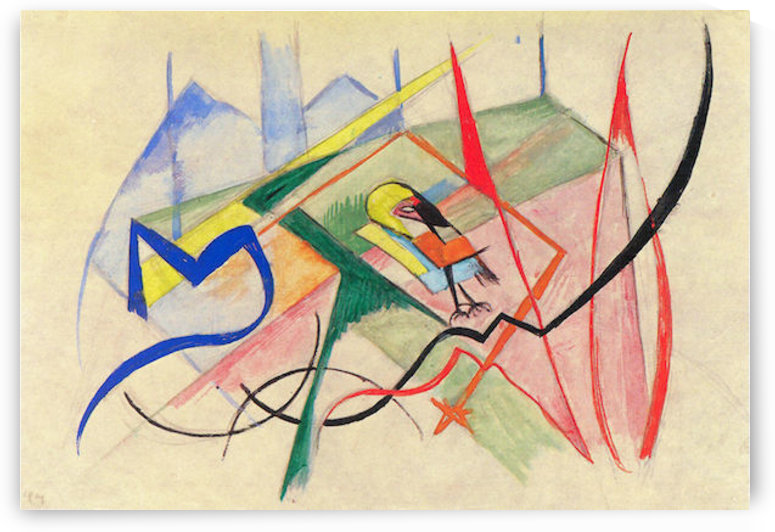 Small mythical creatures by Franz Marc by Franz Marc