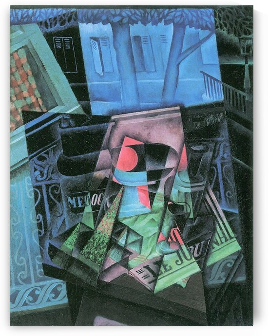 Still life and urban landscape (Place Ravignan) by Juan Gris by Juan Gris