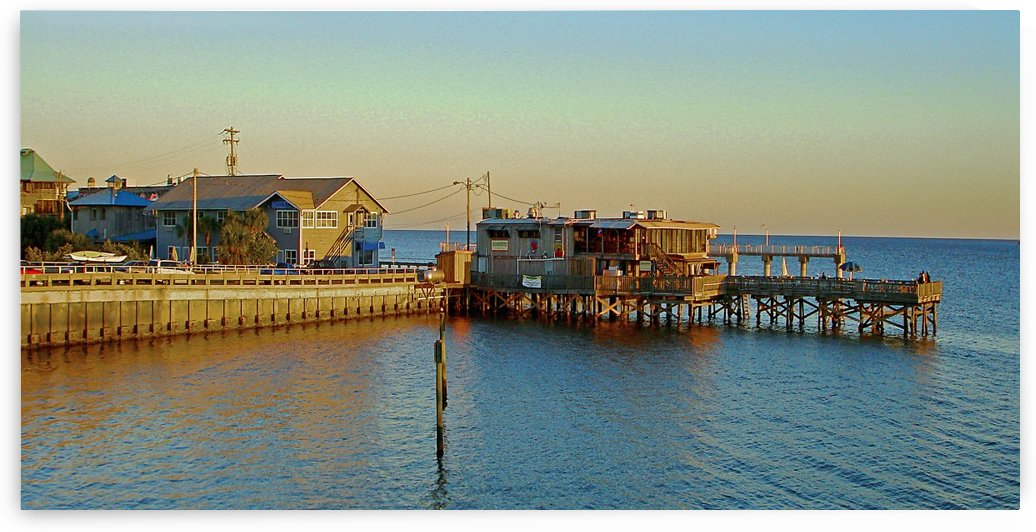 Cedar Key Florida - Sunset On The Wharf by FoxHollowArt