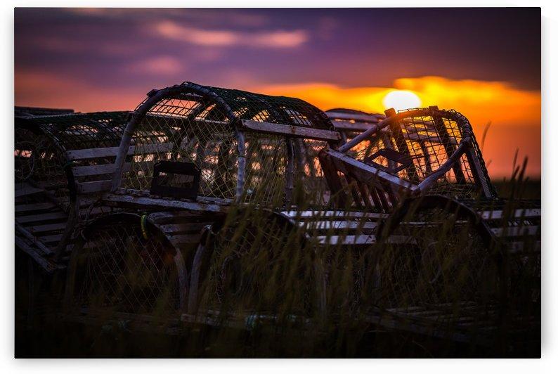 Îles de la Madeleine_Cages à homard coucher soleil_ROSE_HR_D3_6617 by JBL Mistral Photo