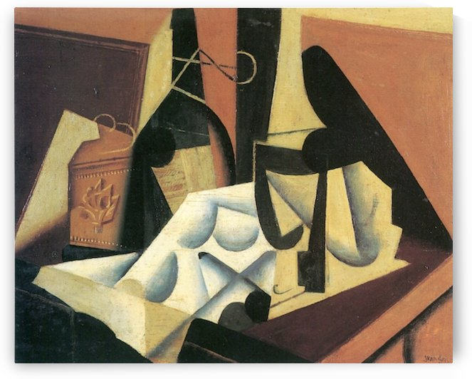 Still Life with a white tablecloth by Juan Gris by Juan Gris