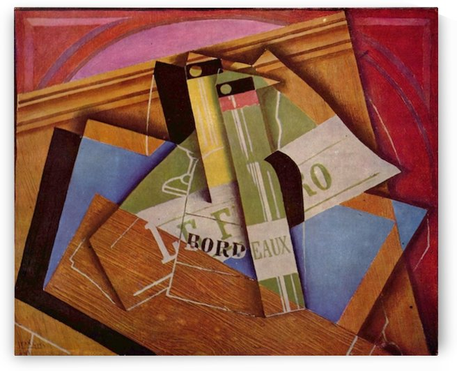 Still Life with Bordeau Winde by Juan Gris by Juan Gris