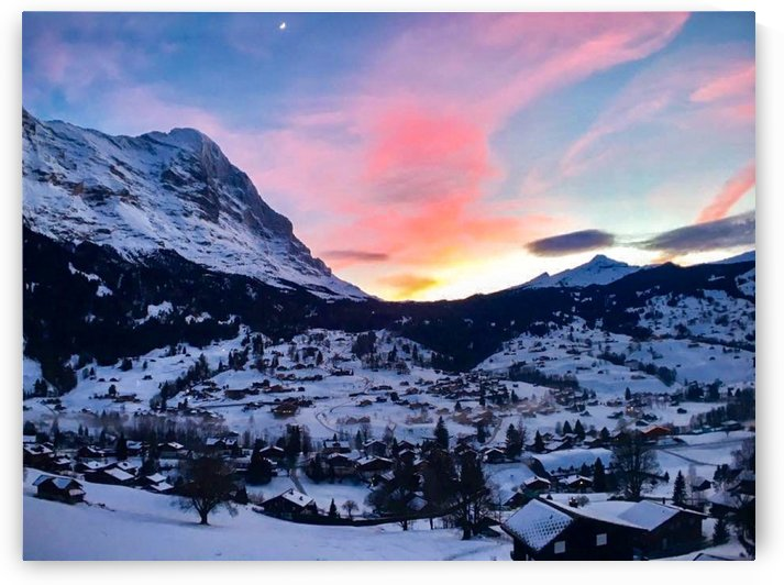 Grindelwald Switzerland sunset by By the C Media