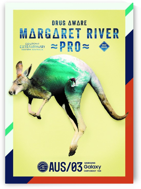 2019 DRUG AWARE MARGARET RIVER PRO Surfing Competition Surfing Poster by Surf Posters