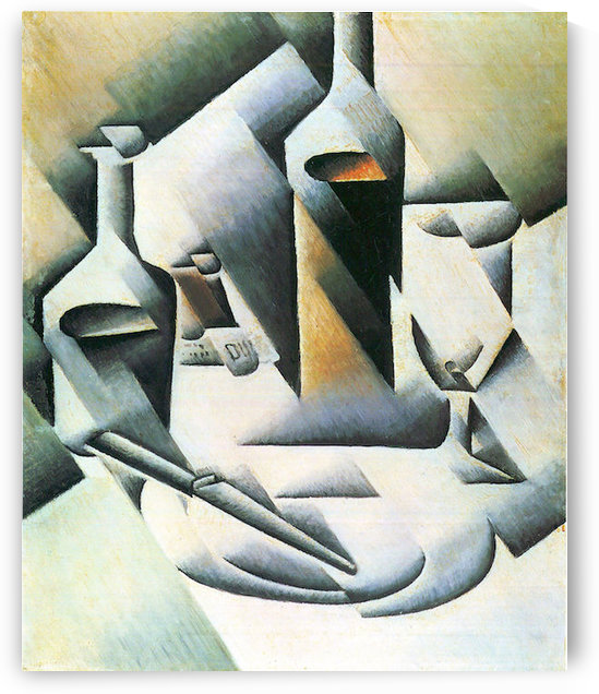 Still Life with bottles and knives by Juan Gris by Juan Gris