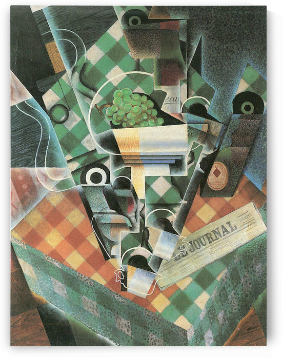 Still Life with checked tablecloth by Juan Gris by Juan Gris