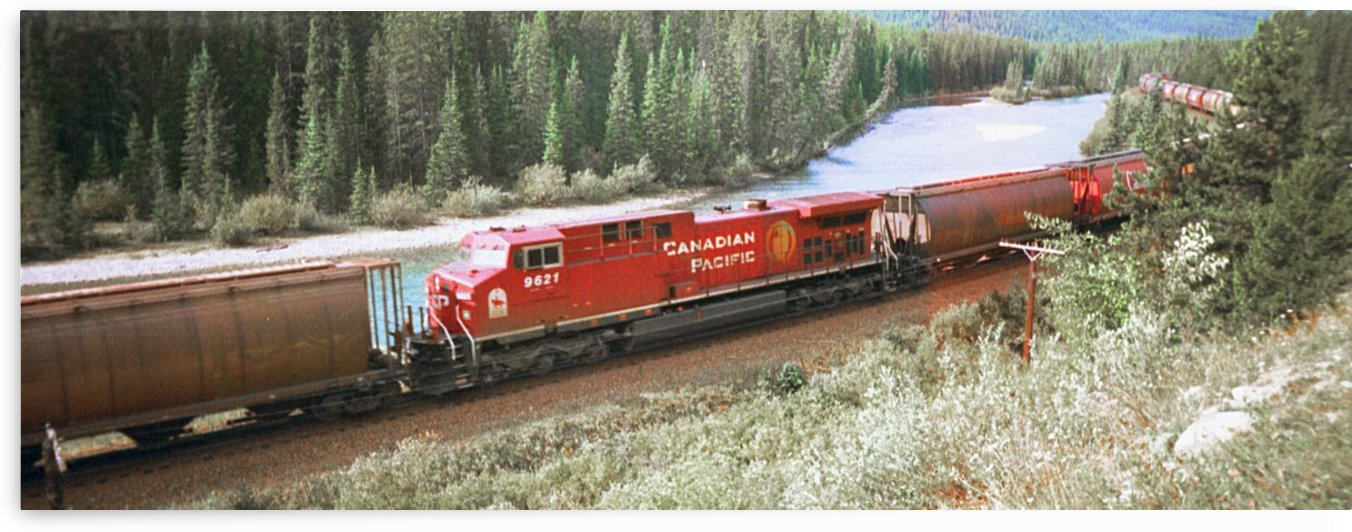 Canadian Pacific Engine 9621 Heads West With A Load by FoxHollowArt
