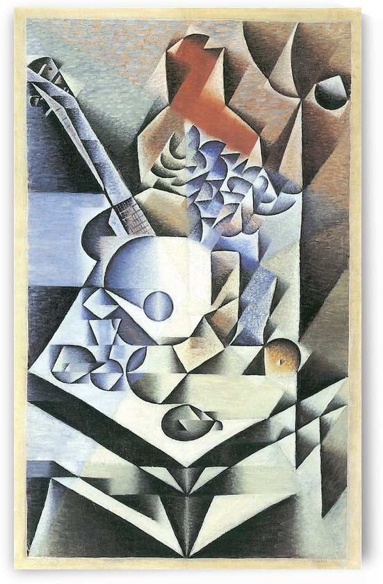 Still Life with Flowers by Juan Gris by Juan Gris