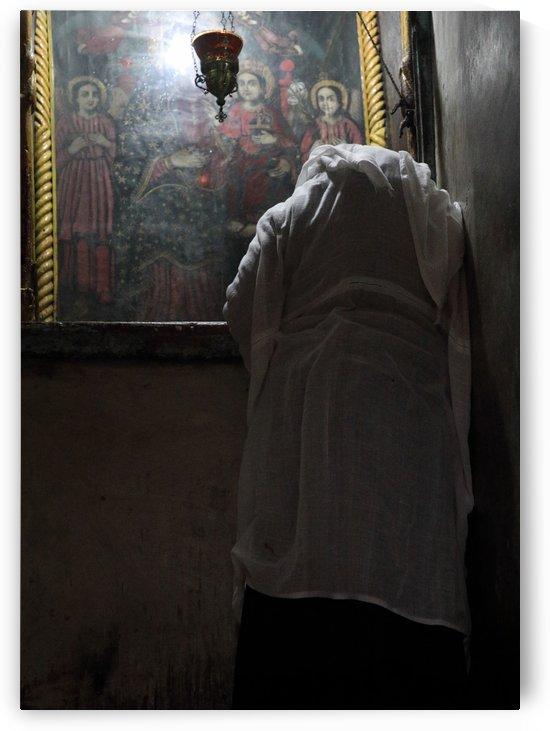 Nun Praying by Eliot Scher