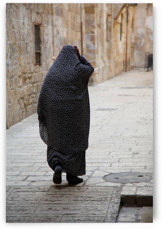 Muslim Woman In An Alley by Eliot Scher