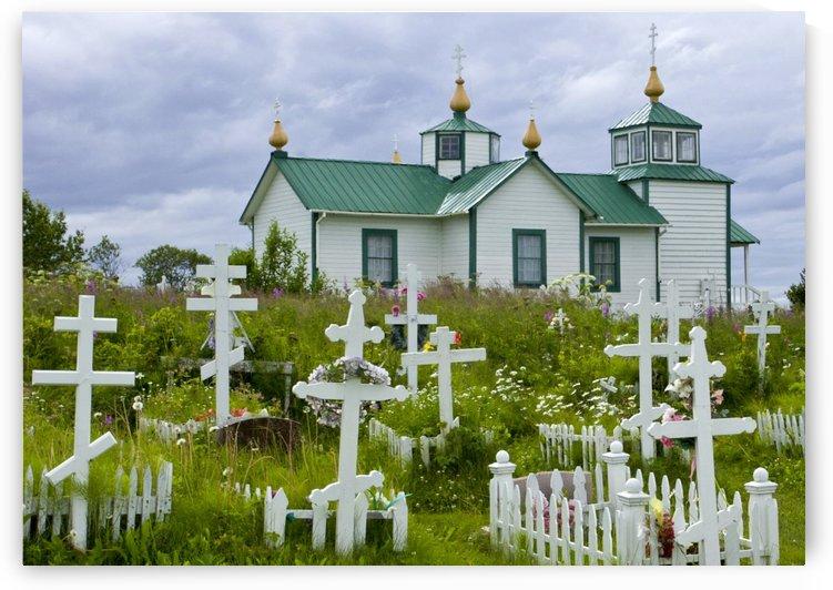 Church at Ninilchik by Eliot Scher