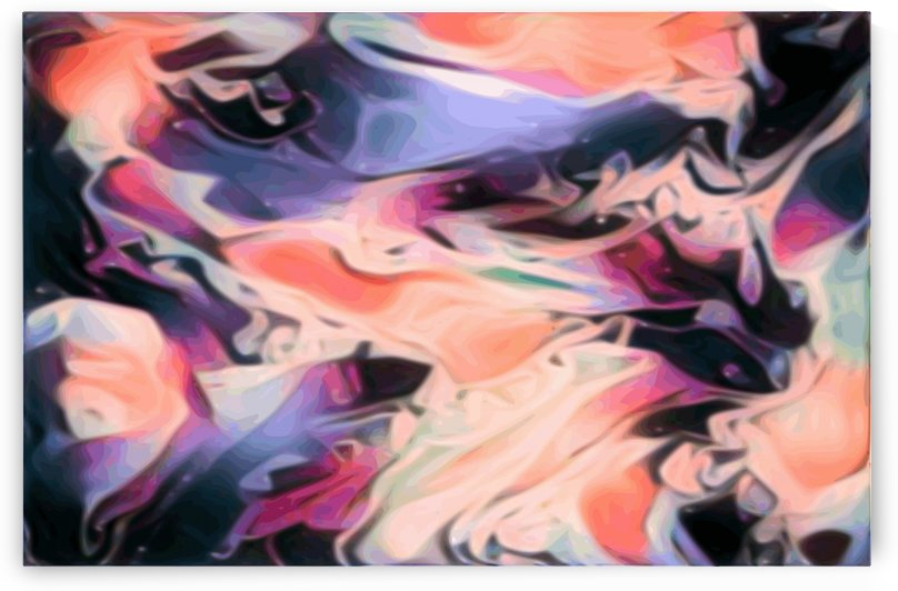 Starlight - multicolor swirls large abstract wall art by Jaycrave Designs