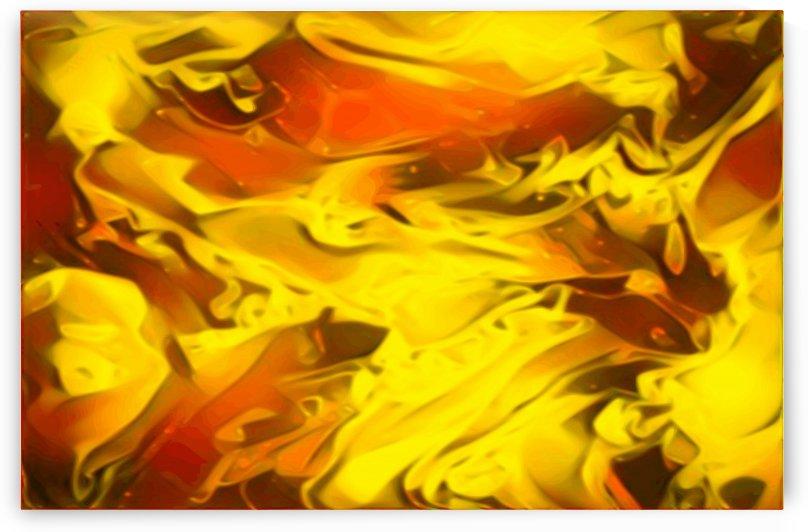 Honey Glaze - gold auburn black swirls large abstract wall art by Jaycrave Designs