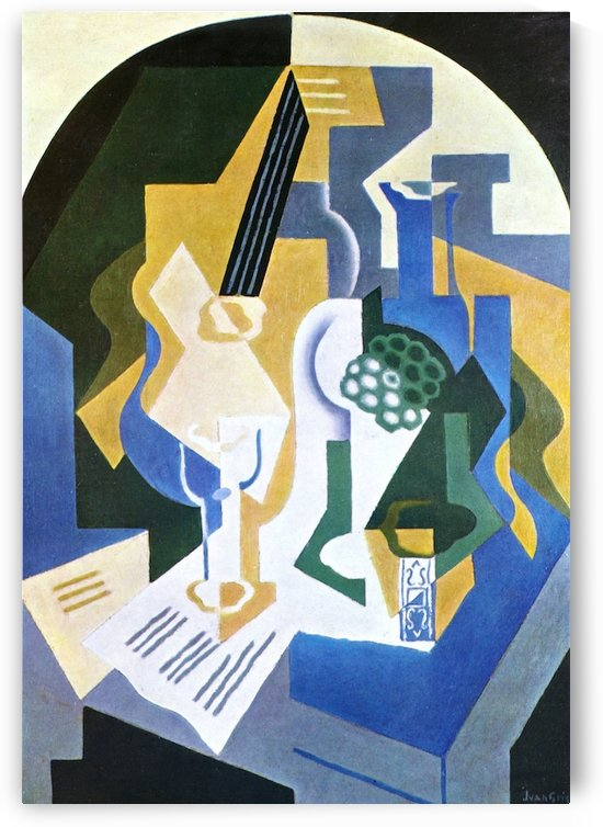Still Life with Fruit bowl and mandolin by Juan Gris by Juan Gris