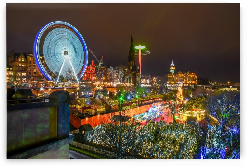 Princes Street Edinburgh at night by RezieMart