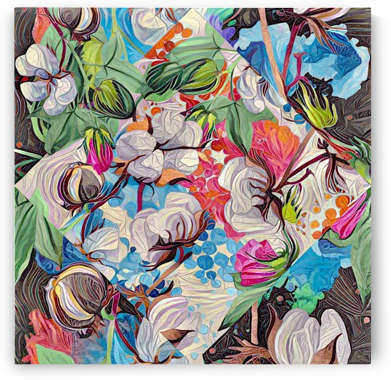 Abstract Floral Cotton and more  by Gabriella David