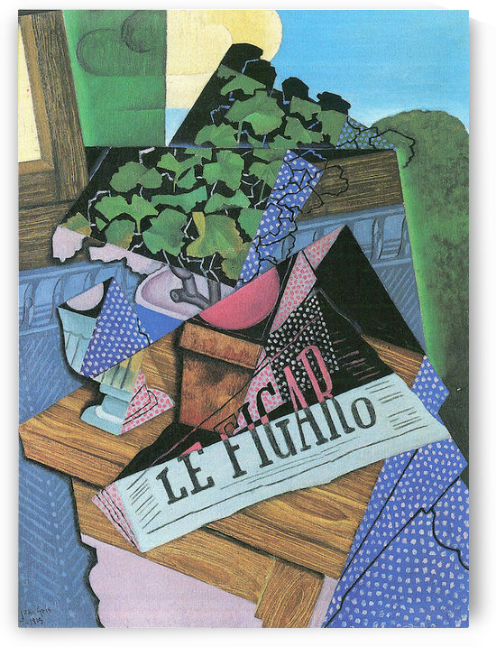 Still Life with geraniums by Juan Gris by Juan Gris