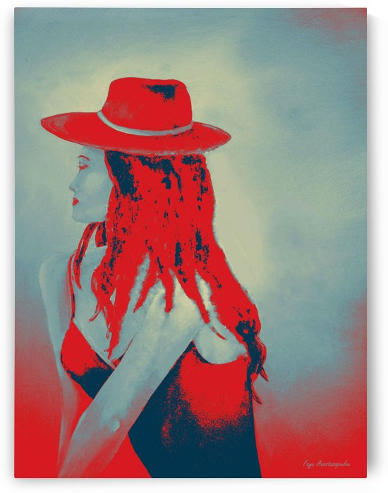 Woman In Red by Faye Anastasopoulou
