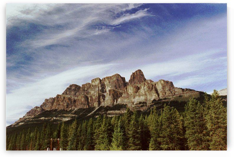 Castle Mountain - Banff Alberta Canada by FoxHollowArt