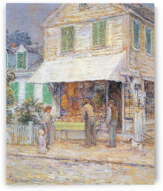 Provincial town by Hassam by Hassam