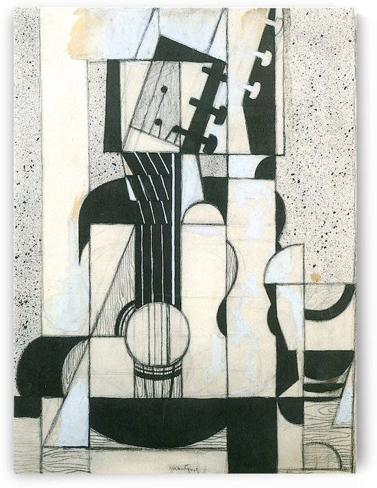 Still Life with guitar by Juan Gris by Juan Gris