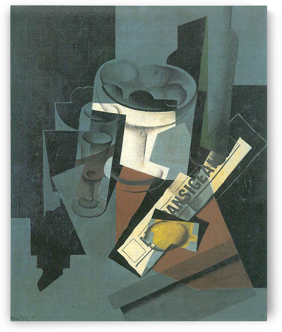 Still Life with Newspaper by Juan Gris by Juan Gris