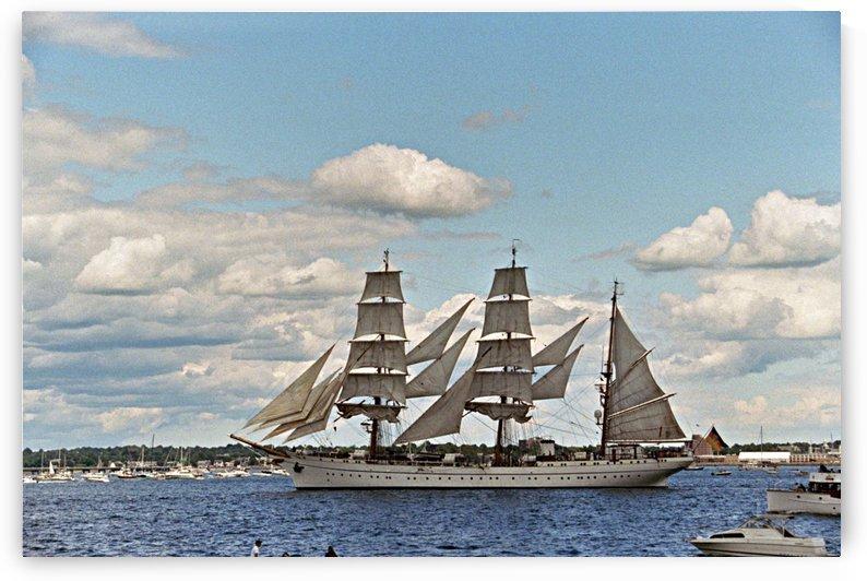 Newport Rhode Island Harbor - Tall Ships by FoxHollowArt