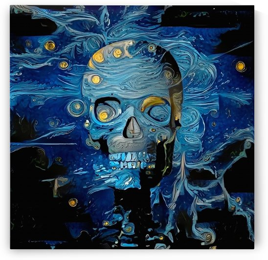 Blue Skull by Bruce Rolff