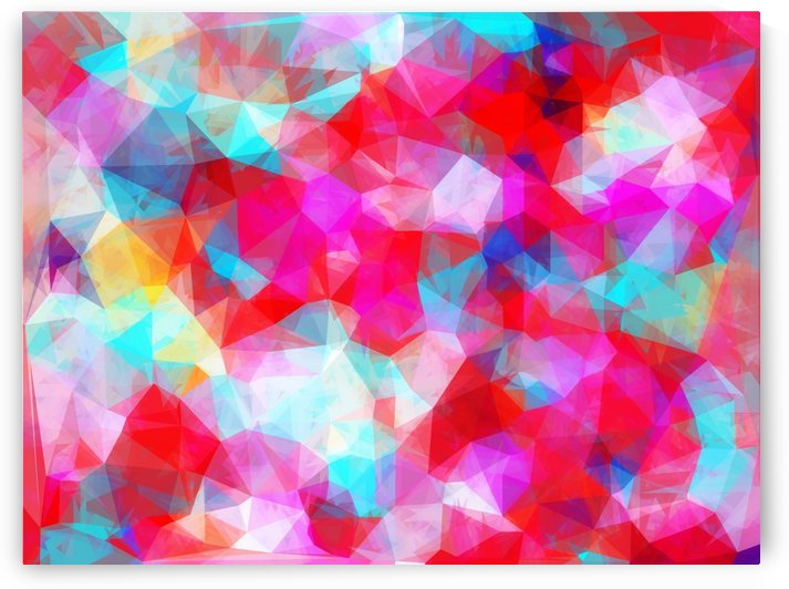 geometric triangle pattern abstract background in pink red blue by TimmyLA
